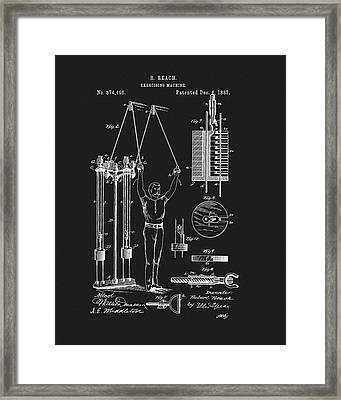 1887 Exercise Apparatus Patent Framed Print by Dan Sproul