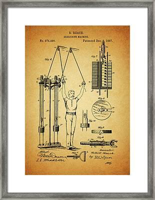 1887 Exercising Machine Patent Framed Print