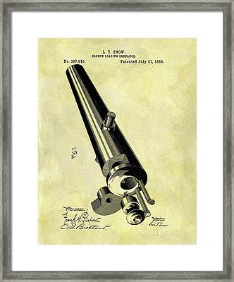 1888 Cannon Patent Framed Print by Dan Sproul