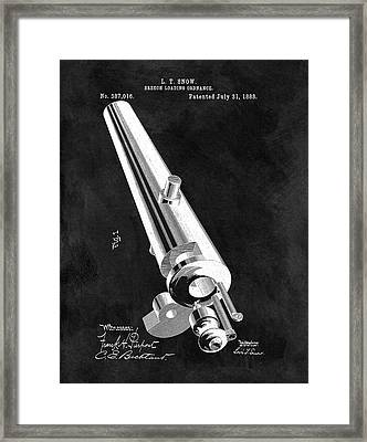 1888 Cannon Patent Illustration Framed Print by Dan Sproul