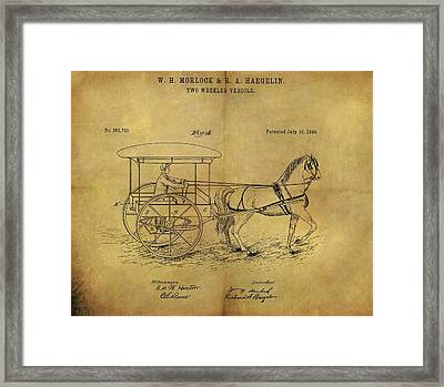 1888 Horse Carriage Patent Framed Print by Dan Sproul
