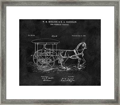 1888 Horse Drawn Carriage Framed Print by Dan Sproul