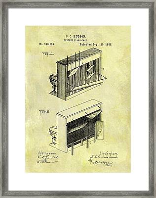 1888 Piano Case Patent Framed Print by Dan Sproul