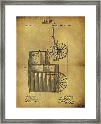 1889 Butcher's Wagon Patent Framed Print