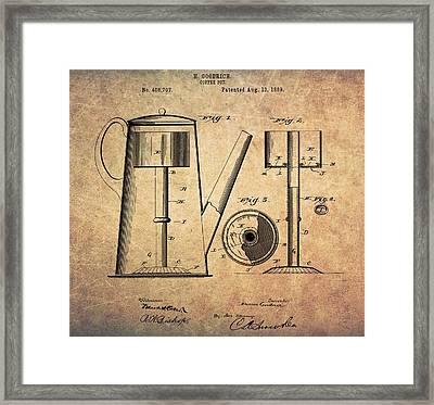 1889 Coffee Maker Patent Framed Print