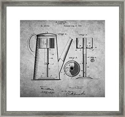 1889 Coffee Pot Patent Framed Print