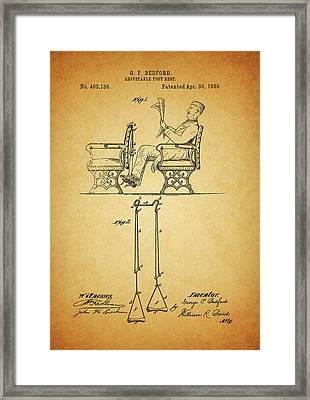 1889 Foot Rest Patent Framed Print