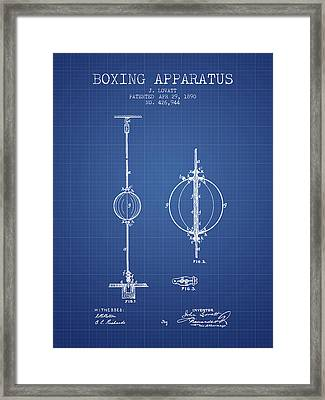 1890 Boxing Apparatus Patent Spbx17_bp Framed Print