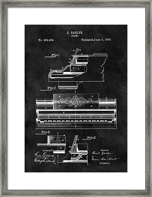 1890 Grand Piano Patent Framed Print by Dan Sproul