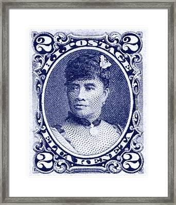 1890 Hawaiian Queen Liliuokalani Stamp Framed Print
