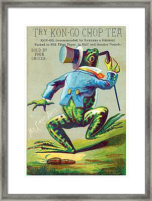 1890 Try Kon Go Chop Tea Framed Print by Historic Image