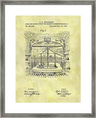 1891 Entertainment Stage Patent Framed Print