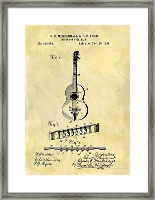 1891 Guitar Bridge Patent Framed Print