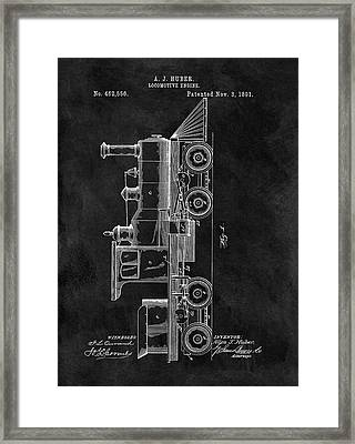 1891 Locomotive Engine Patent Framed Print by Dan Sproul