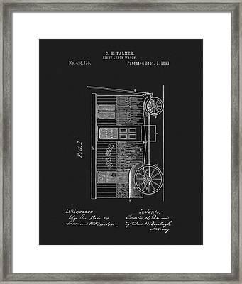 1891 Night Lunch Wagon Patent Framed Print