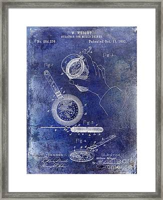 1892 Cocktail Mixer Blue Framed Print by Jon Neidert