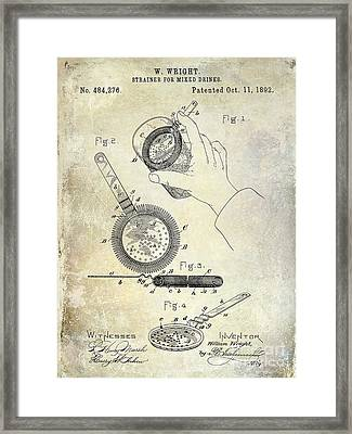 1892 Cocktail Mixer Framed Print by Jon Neidert