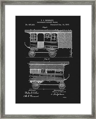 1892 Photography Wagon Patent Framed Print