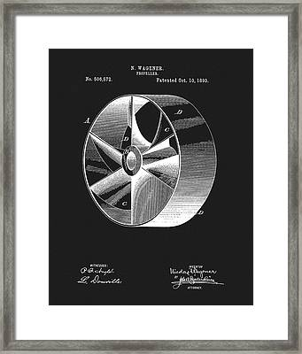 1893 Boat Propeller Patent Framed Print by Dan Sproul