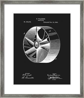 1893 Boat Propeller Patent Framed Print