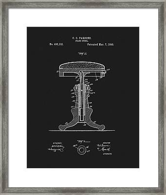 1893 Piano Stool Patent Framed Print by Dan Sproul