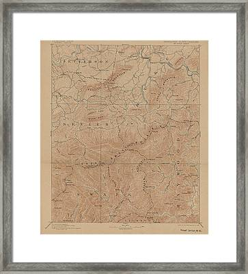 1893 Smoky Mountains National Park Map Framed Print