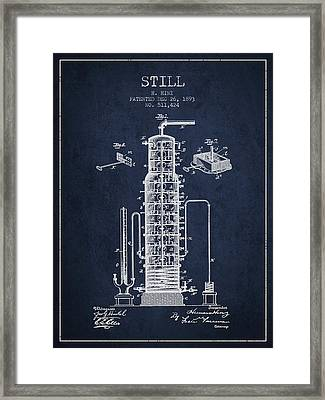 1893 Still Patent Fb82_nb Framed Print by Aged Pixel
