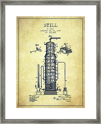 1893 Still Patent Fb82_vn Framed Print by Aged Pixel