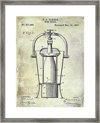 1893 Wine Cooler Patent Framed Print