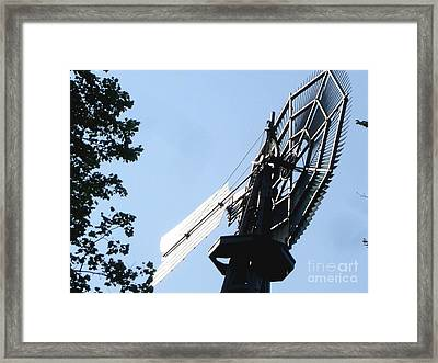 Framed Print featuring the photograph 1894 Bronson Windmill Gears by Margie Avellino