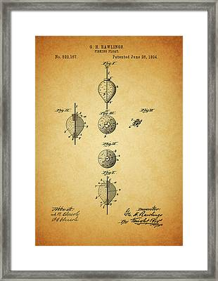 1894 Fishing Float Patent Framed Print