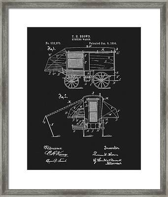 1894 Hunting Wagon Patent Framed Print