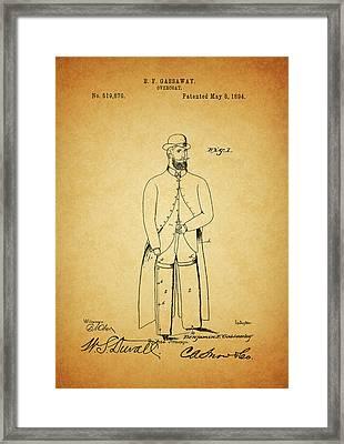1894 Overcoat Patent Framed Print