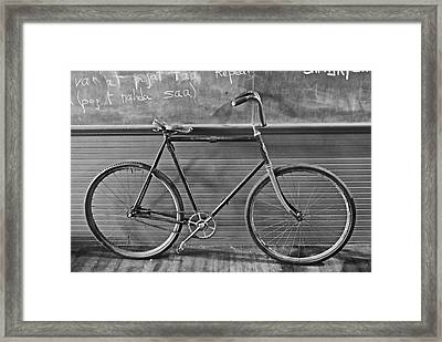 Framed Print featuring the photograph 1895 Bicycle by Joan Reese