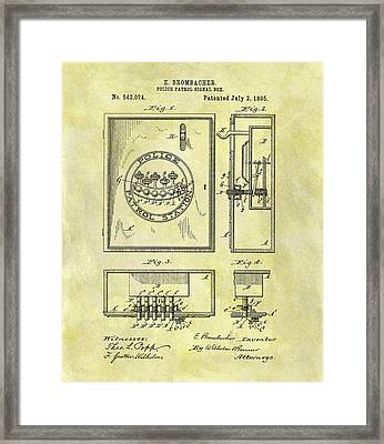 1895 Police Call Box Framed Print