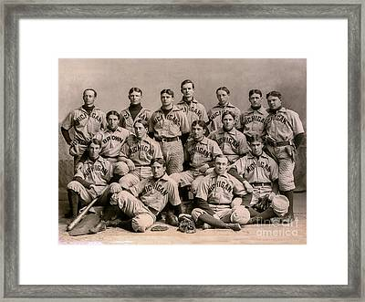 1896 Michigan Baseball Team Framed Print