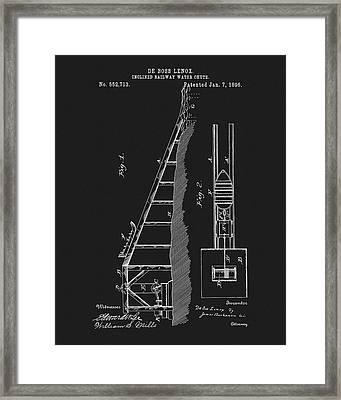 1896 Water Roller Coaster Framed Print