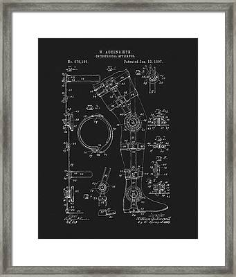1897 Artificial Leg Patent Framed Print by Dan Sproul
