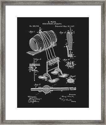 1897 Beer Bottling Apparatus Framed Print