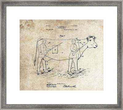 1897 Hunting Decoy Patent Framed Print
