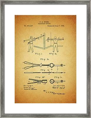 1898 Exercising Device Patent Illustration Framed Print