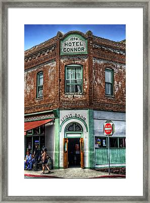 1898 Hotel Connor - Jerome Arizona Framed Print