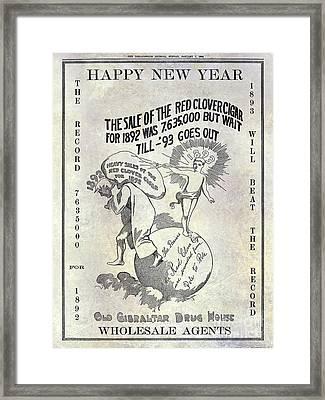 1898 Red Clover Cigars Advertisment Framed Print