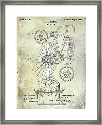 1899 Bicycle Patent Framed Print