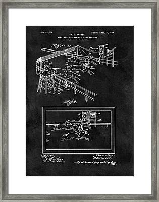 1899 Horse Track Patent Framed Print by Dan Sproul