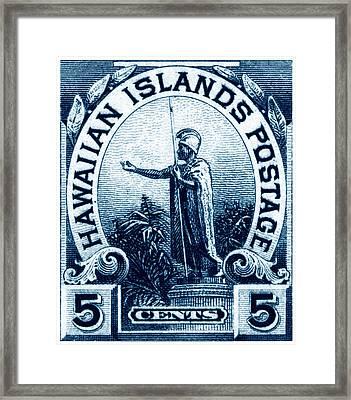 1899 Statue Of Kamehameha Stamp Framed Print