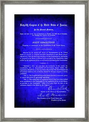 18th Amendment That Launched Prohibition 1917 Framed Print by Daniel Hagerman