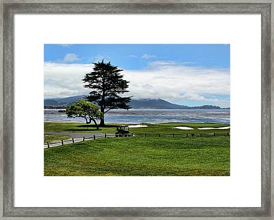 18th At Pebble Beach Horizontal Framed Print