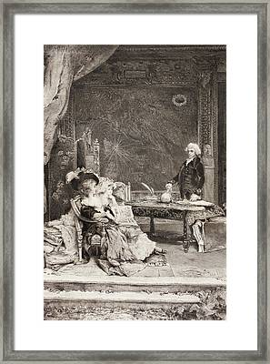 18th Century Aristocratic Women Framed Print by Vintage Design Pics