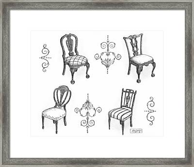 18th Century English Chairs Framed Print by Adam Zebediah Joseph